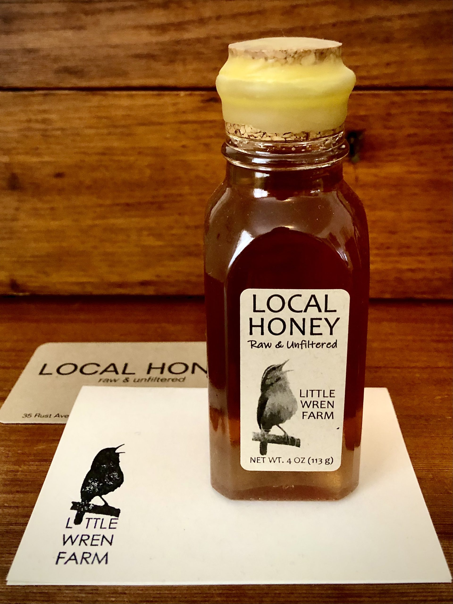 Little Wren Farm Raw Honey inMuth Jar